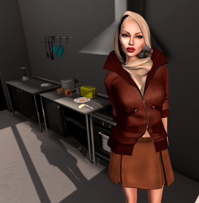gizza leather jacket with scarf ii jpg