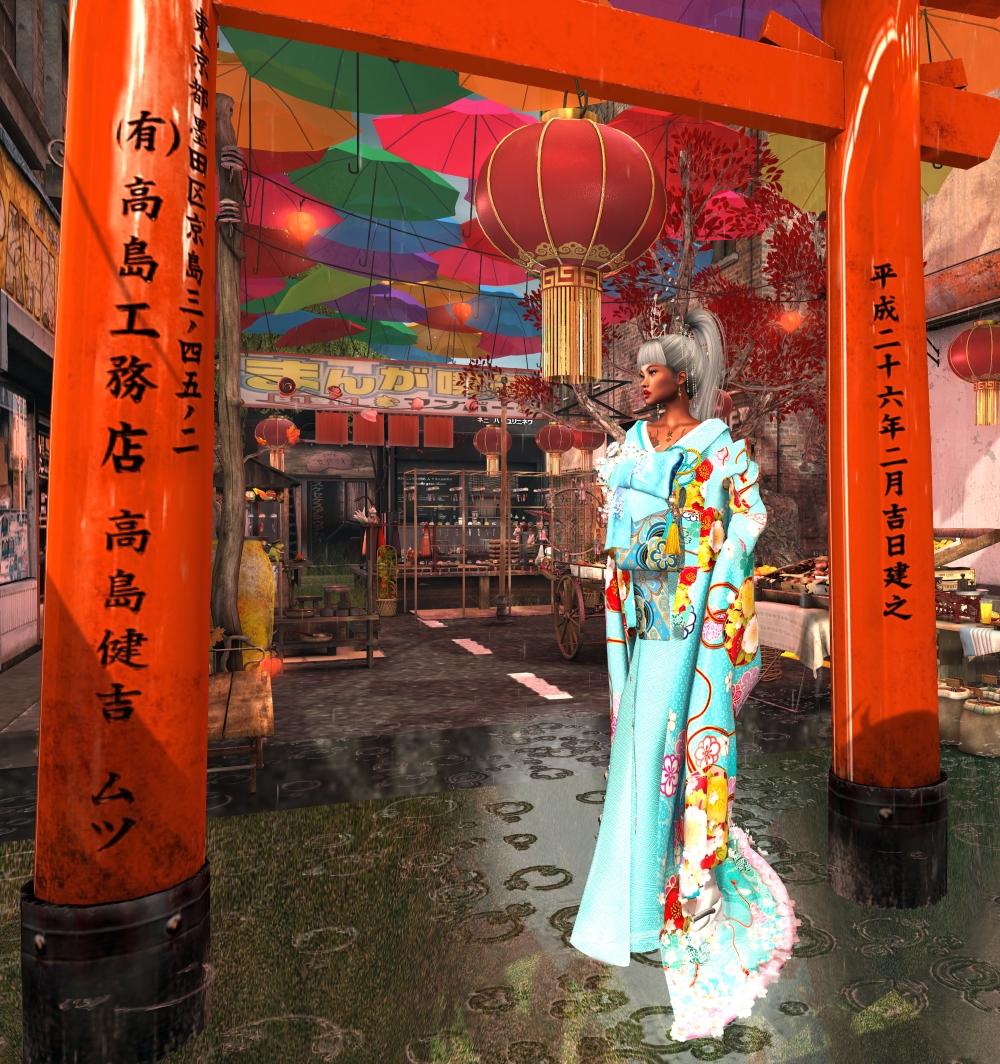 20200627 blue kimono I