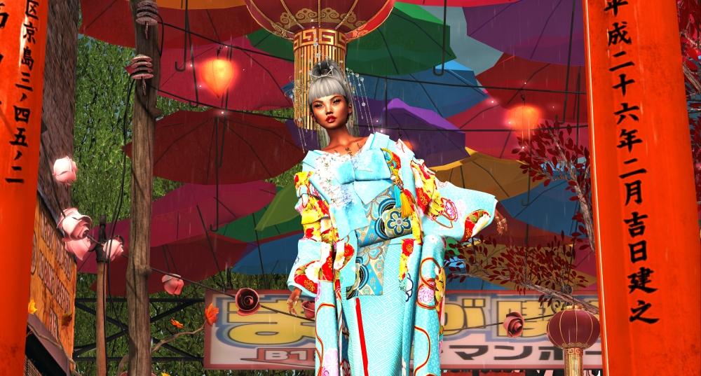 20200627 blue kimono